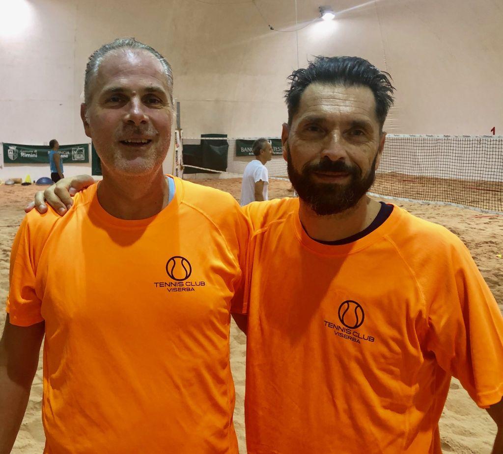 Beach tennis Viserba Antonio Savini e Marco Torroni
