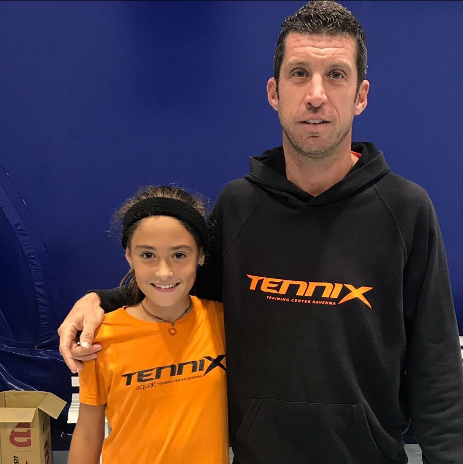 Ambra Tommasi con il tecnico Mattia Amadori (Tennix Aquae)