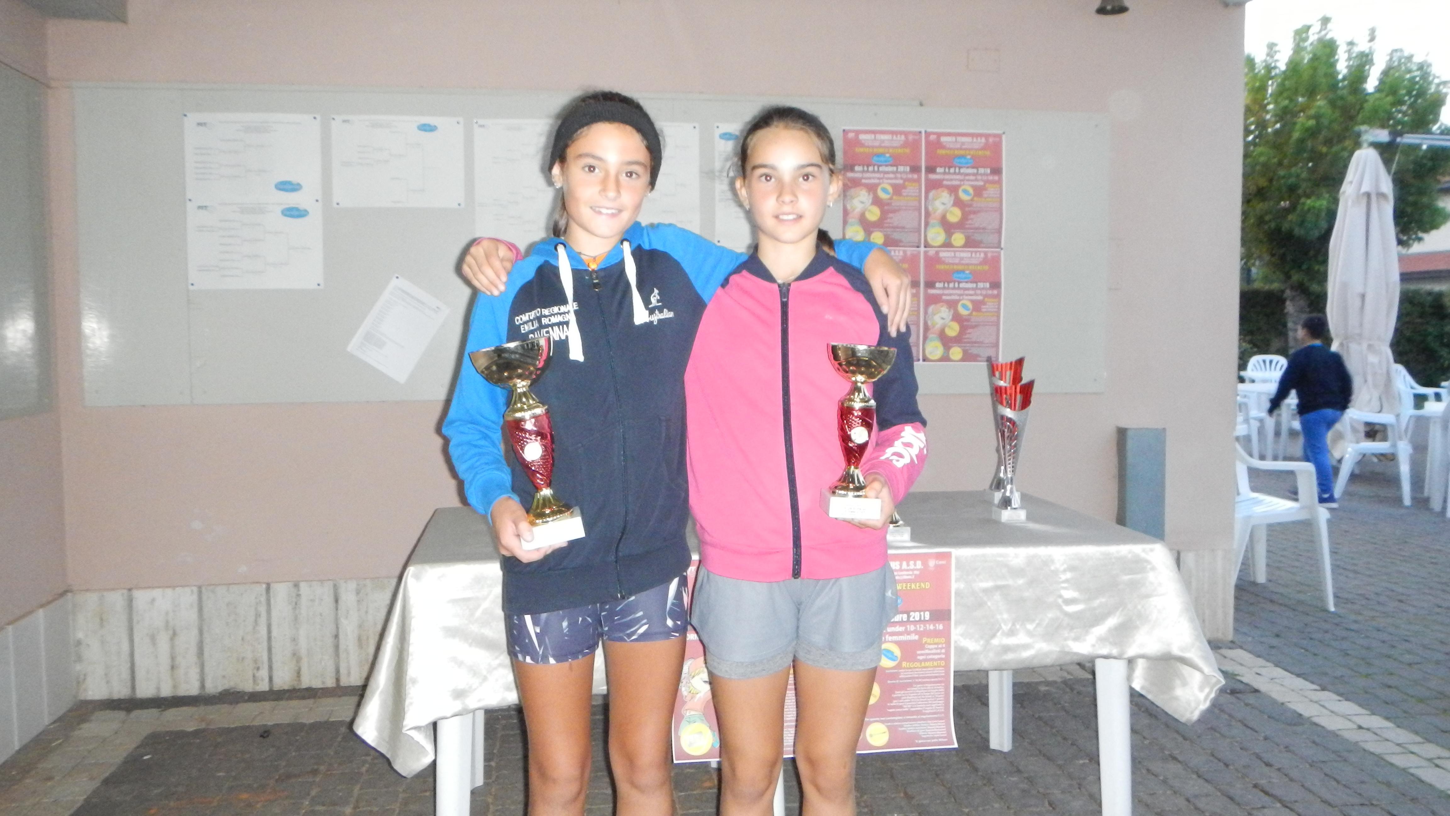 Torneo giovanile Under Tennis Massa Lombarda: Ambra Tommasi e Sofia Cilibic