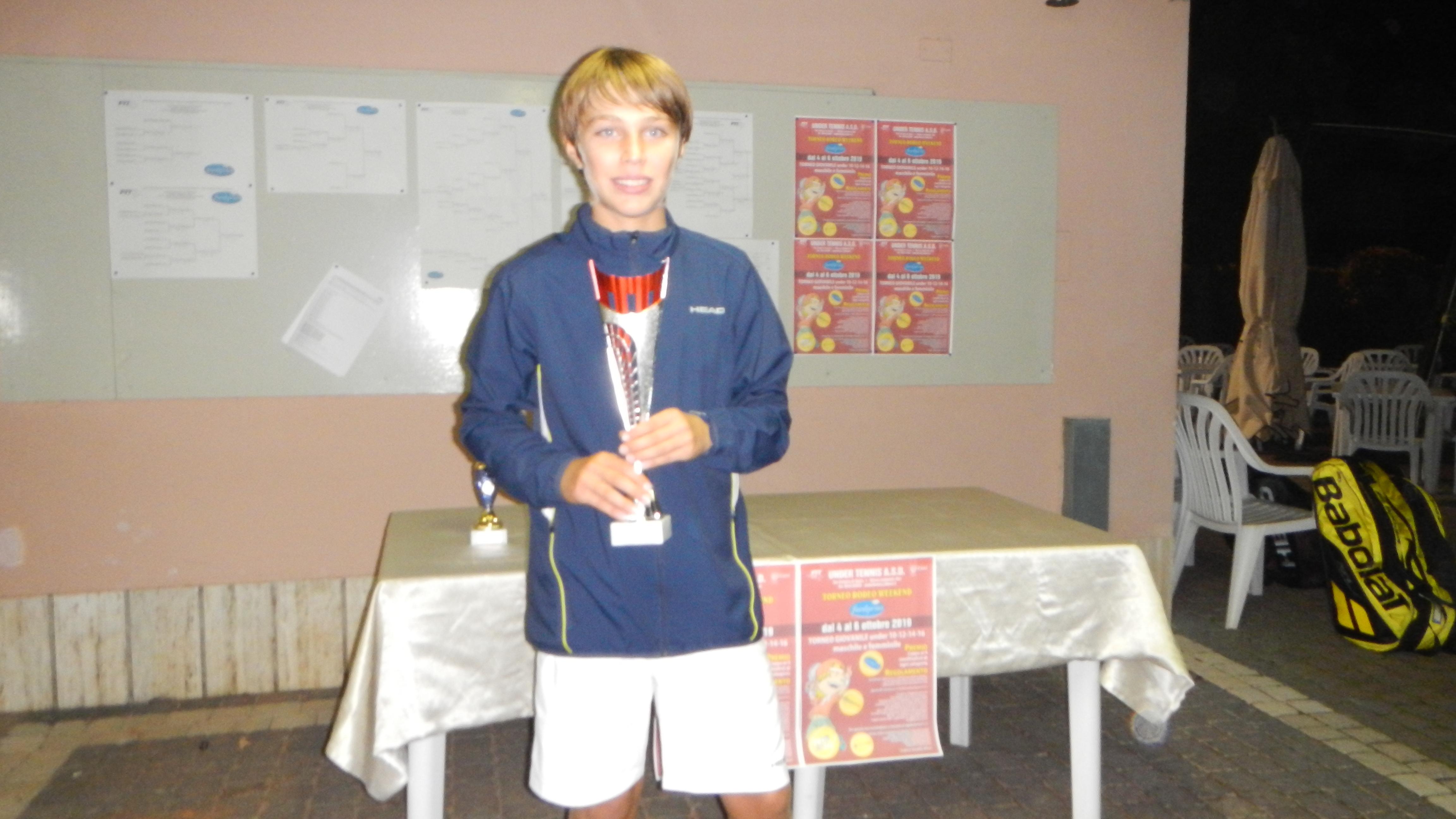 Torneo giovanile Under Tennis Massa Lombarda: Pietro Bonivento
