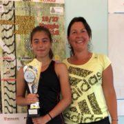 Letizia Migani con la maestra Federica Cerri