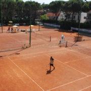 I campi del Tennis Club Riccione