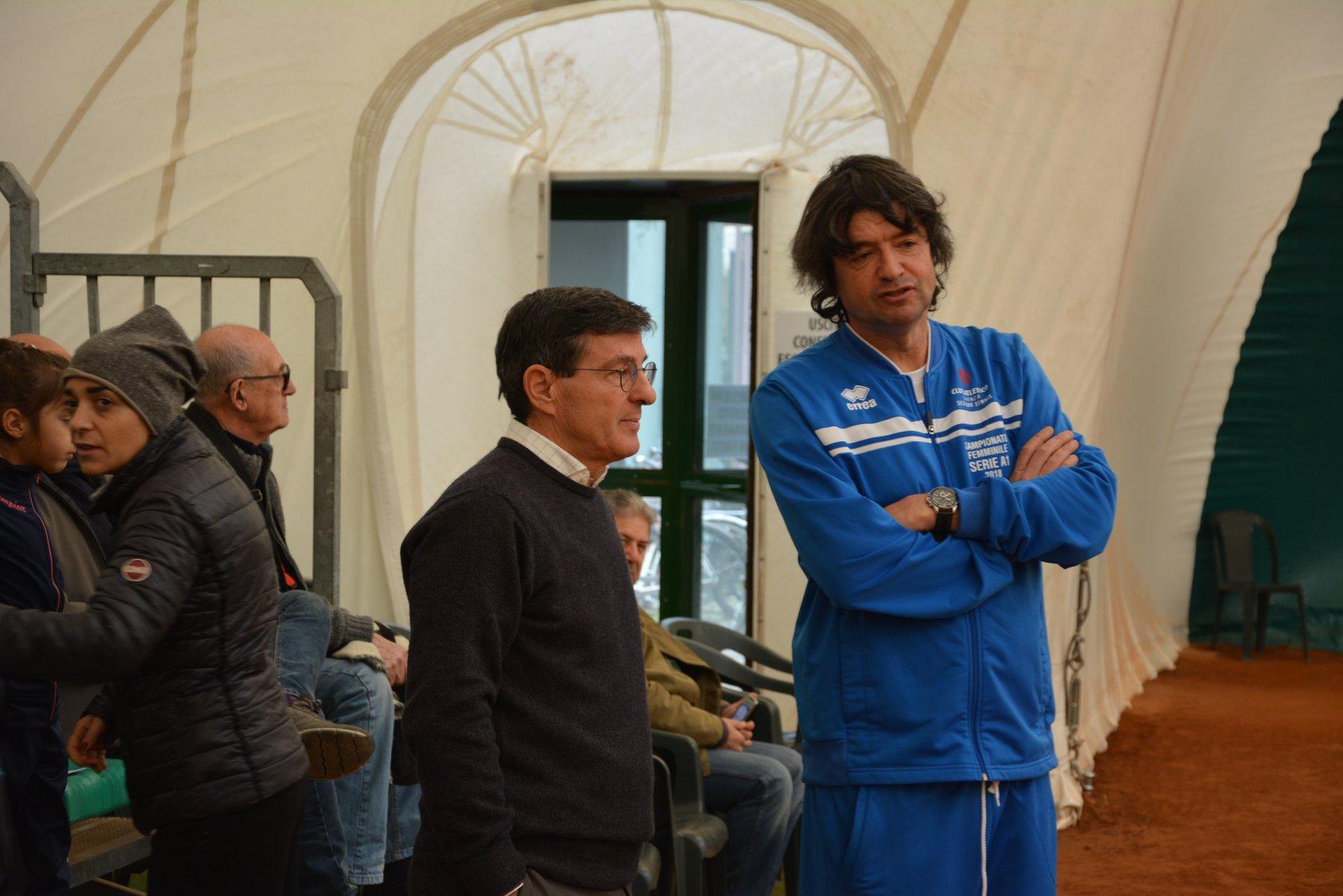 Tennis Club Faenza: Mirko Sangiorgi con il presidente Carlo Zoli
