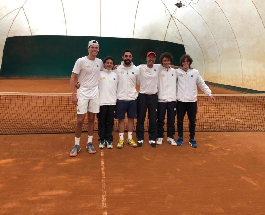 La squadra di serie D1 maschile del Circolo Tennis Zavaglia Ravenna
