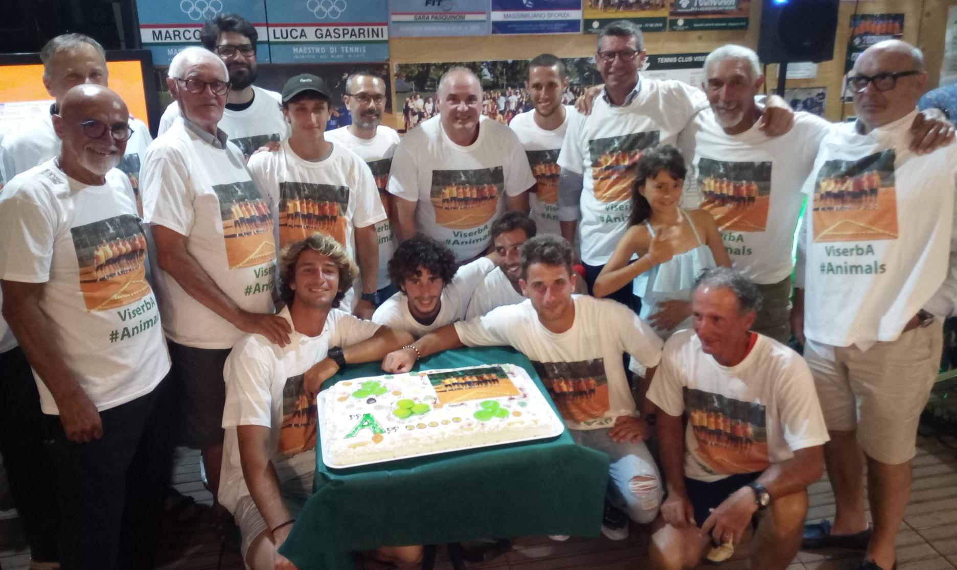 Il Tennis Viserba festeggia la promozione in serie A2