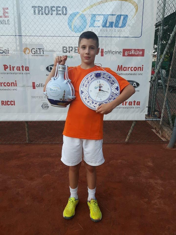 Mattia Muraccini, vincitore tra gli under 12