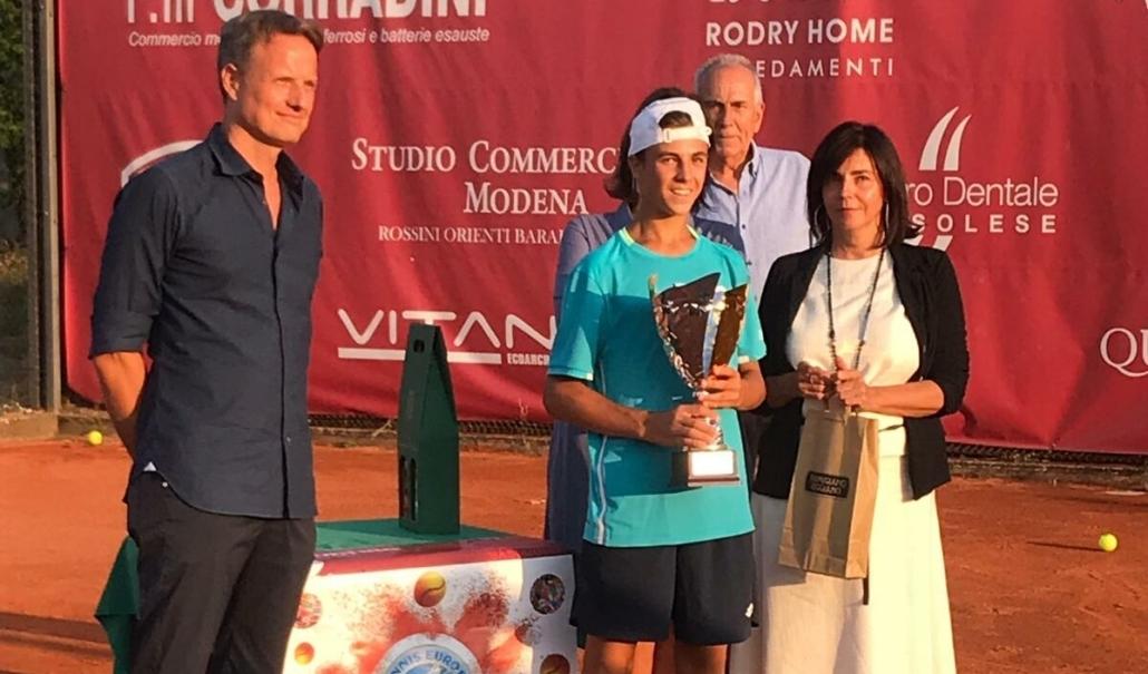 La premiazione di Mattia Ricci a Sassuolo