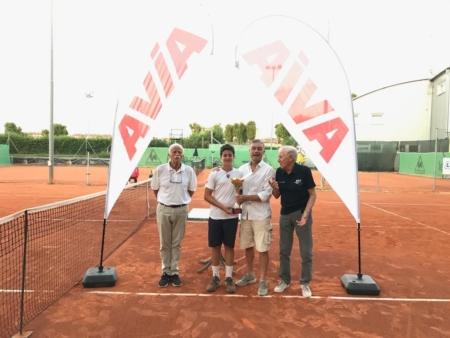 Circolo Tennis Zavaglia: la premiazione di Edoardo Lanza Cariccio