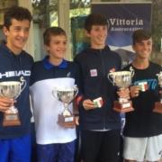Premiazione doppio campionati italiani Under 14