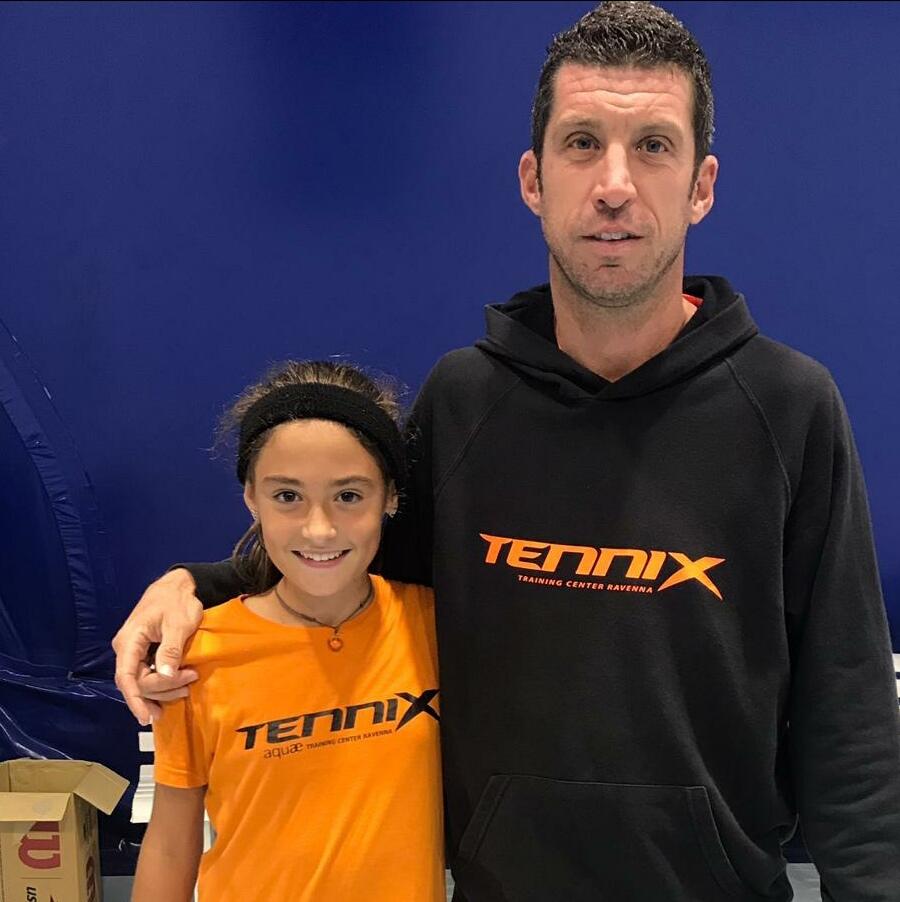 Ambra Tommasi con il tecnico Mattia Amadori