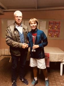 Under Tennis Massa Lombarda: premiazione Pietro Augusto Bonivento