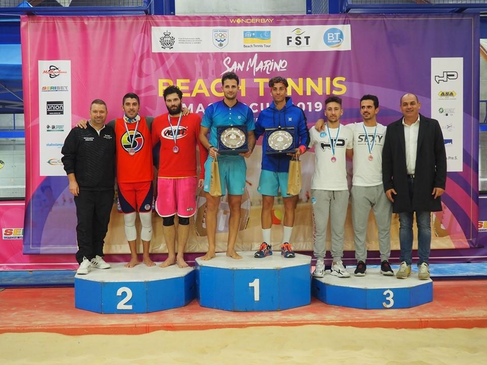 San Marino Beach Tennis Master Cup: il podio maschile