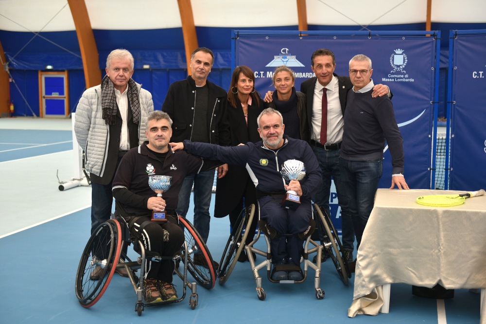 La premiazione della tappa di Massa Lombarda del circuito wheelchair
