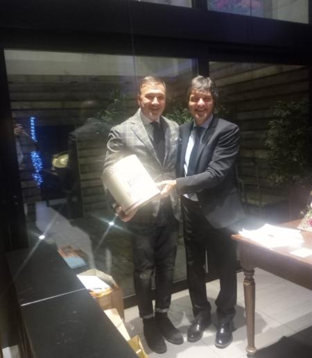 Festa fine 2019 CT Zavaglia Ravenna: Il presidente Carlo Licciardi con Enrico Crocetti Bernardi