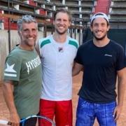 Andreas Seppi con Giorgio Galimberti e Federico Bertuccioli