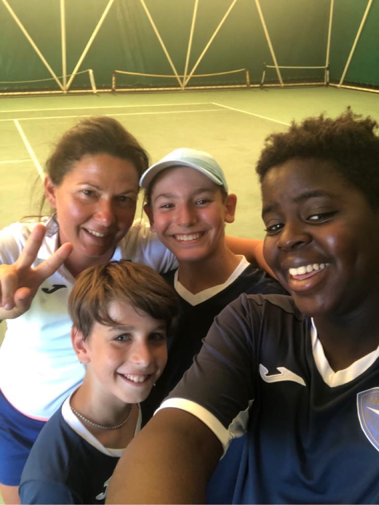 La squadra B Under 14 del Tennis Club Riccione