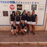 La squadra di serie C femminile del Tennis Club Riccione