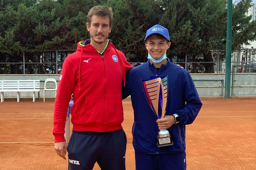 Daniel Bagnolini e il tecnico Lorenzo Frigerio