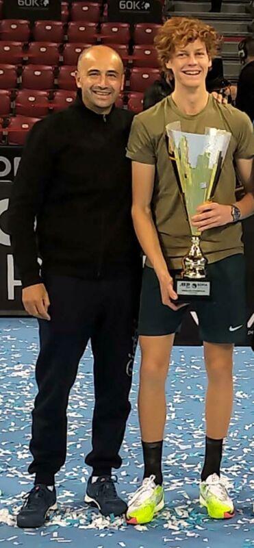 Cristian Brandi e Jannik Sinner