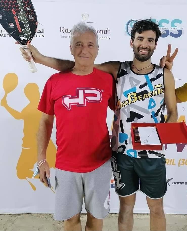 Tommaso Giovannini festeggia il successo a Dubai con il padre Carlo