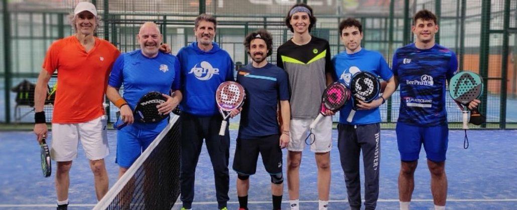 I padelisti riccionesi a Madrid con Javier Pozanco Sanchez e i suoi allievi