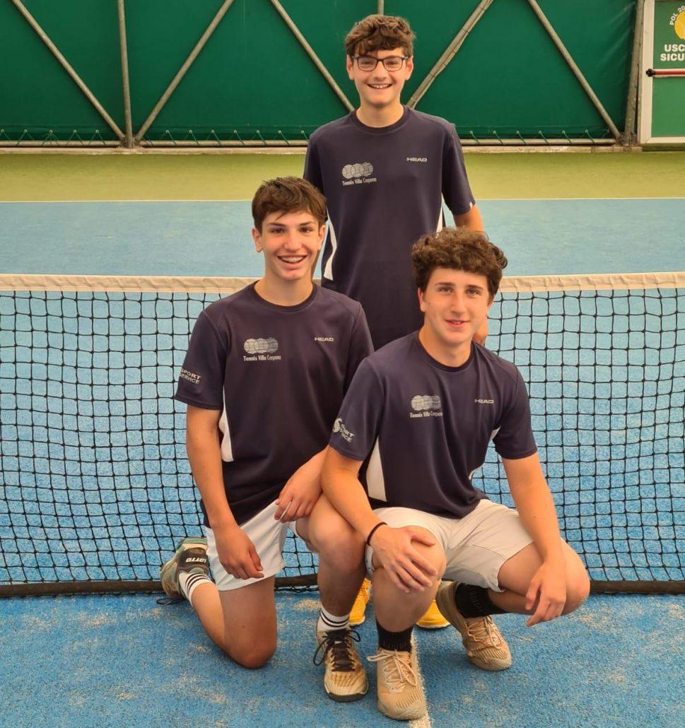La squadra Under 16 B del Tennis Villa Carpena