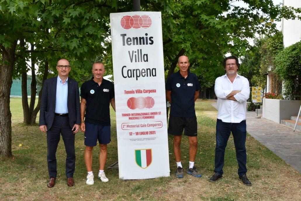 Gli organizzatori del Tennis Europe Under 12 del Villa Carpena
