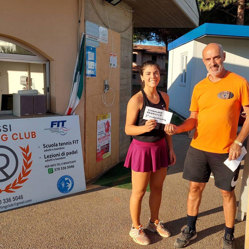 Open Russi Sporting Club: Marco Foschini premia Sofia Bardi