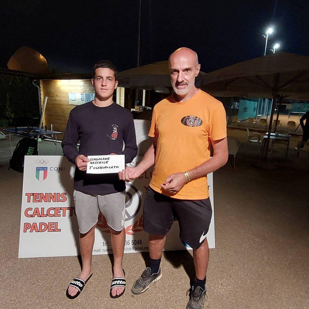 Open Russi Sporting Club: Marco Foschini premia Edoardo Lanza Cariccio