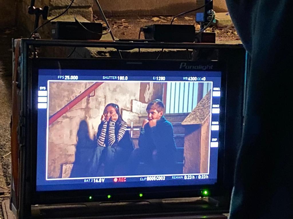 """Il riminese Luca Lorenzi durante le riprese del video """"Over the Moon"""" di Elodie"""