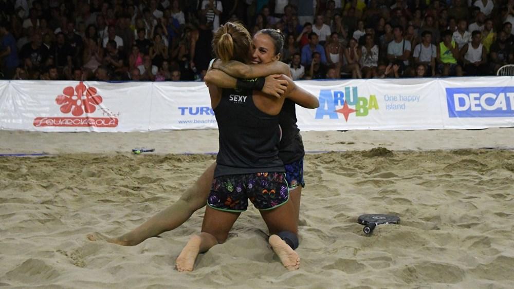 Mondiali Beach Tennis: Gasparri-Bacchetta concedono il bis a Cervia