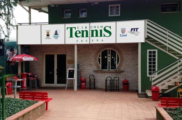 L'ingresso del Circolo Tennis Cesena