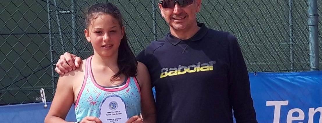Erika Di Muzio, allieva della San Marino Tennis Academy
