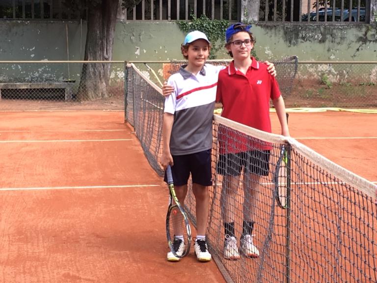 Raffaele e Federico Strocchi, portacolori del Tennis Club Riccione