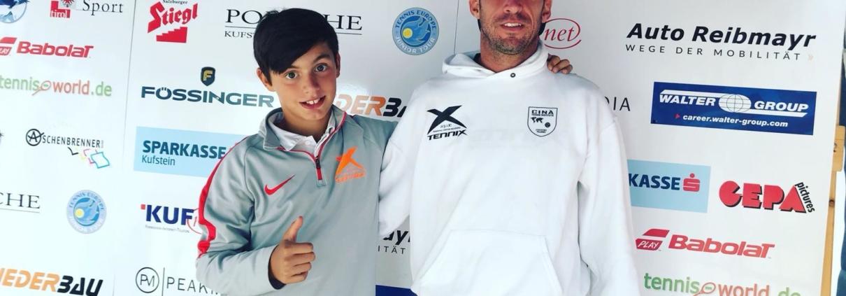 Fabio Leonardi con il tecnico Mattia Amadori