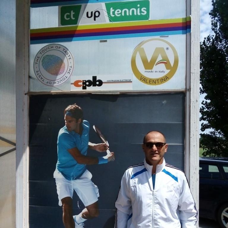 Pier Paolo Bisoli al circolo Up Tennis