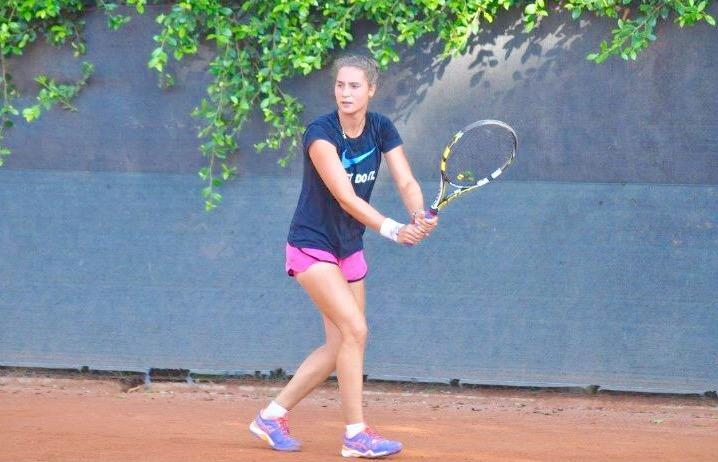 Sara Gregoroni, giocatrice del Tennis Club Riccione