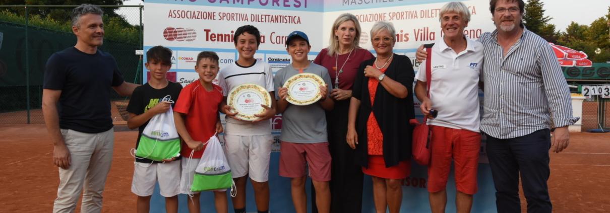 Villa Carpena: la premiazione delle coppie Matteo Sciahbasi/Riccardo Surano e Michele Mecarelli/Danny Stella