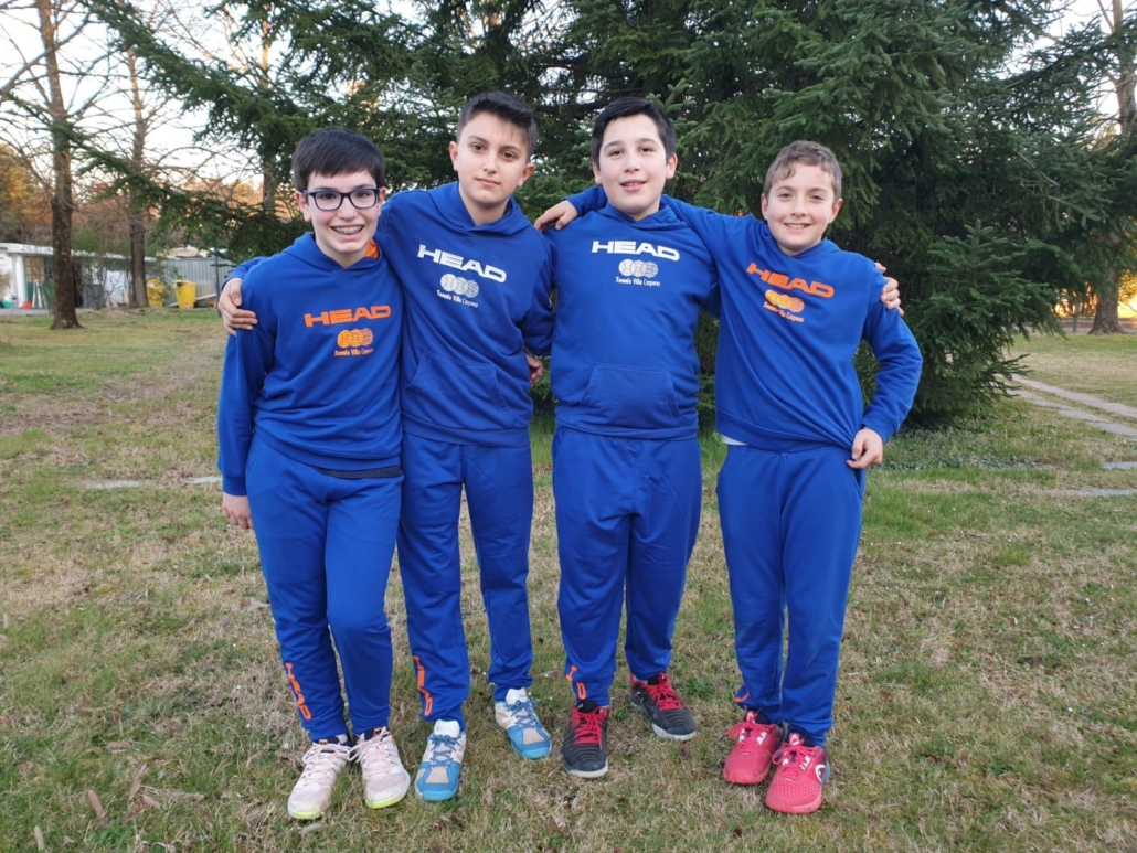 La squadra Villa Carpena under 12
