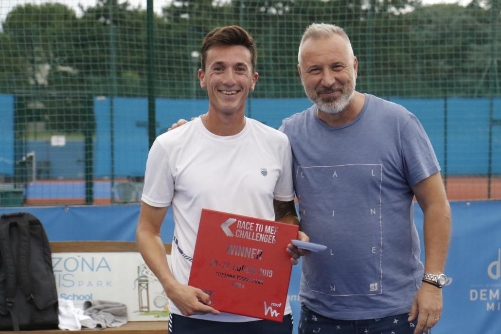 Race to MEF Challenger Imola: Luca Pancaldi premiato da Massimiliano Narducci