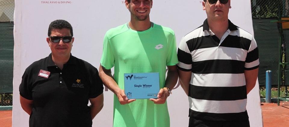 Enrico Dalla Valle premiato per il successo nel Futures ITF di Tabarka
