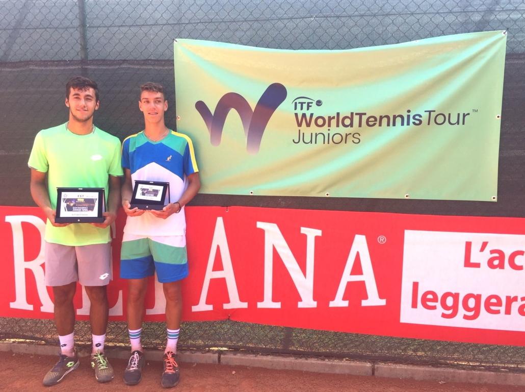 San Marino Junior Open: il vincitore Marcello Serafini e il finalista Giulio Perego
