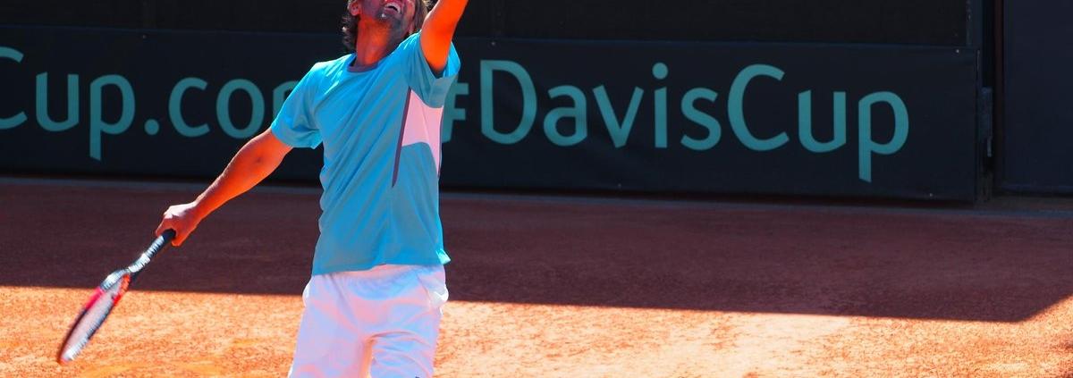 Domenico Vicini, bandiera della squadra di Coppa Davis di San Marino