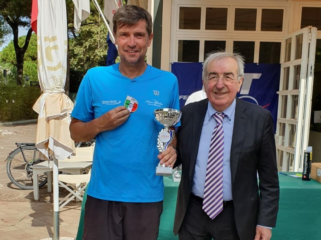 Paolo Pambianco cerca un altro trionfo nei campionati italiani Veterani al Mare e Pineta