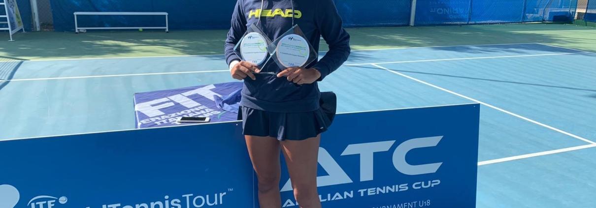 Emma Valletta, vincitrice dell'Apulian Tennis Cup