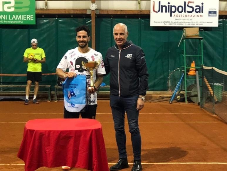 Open Fermignano: la premiazione di Giacomo Polidori