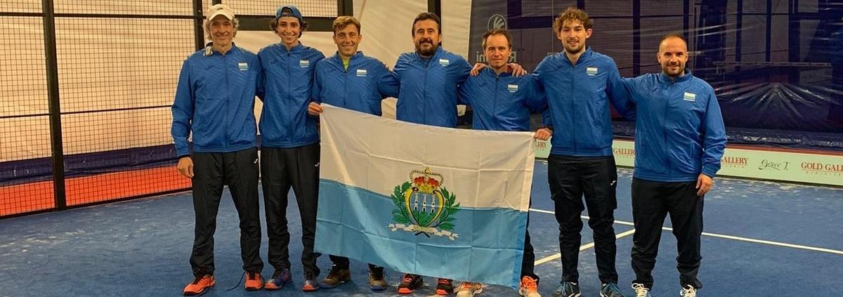 La squadra di San Marino per gli Europei di padel