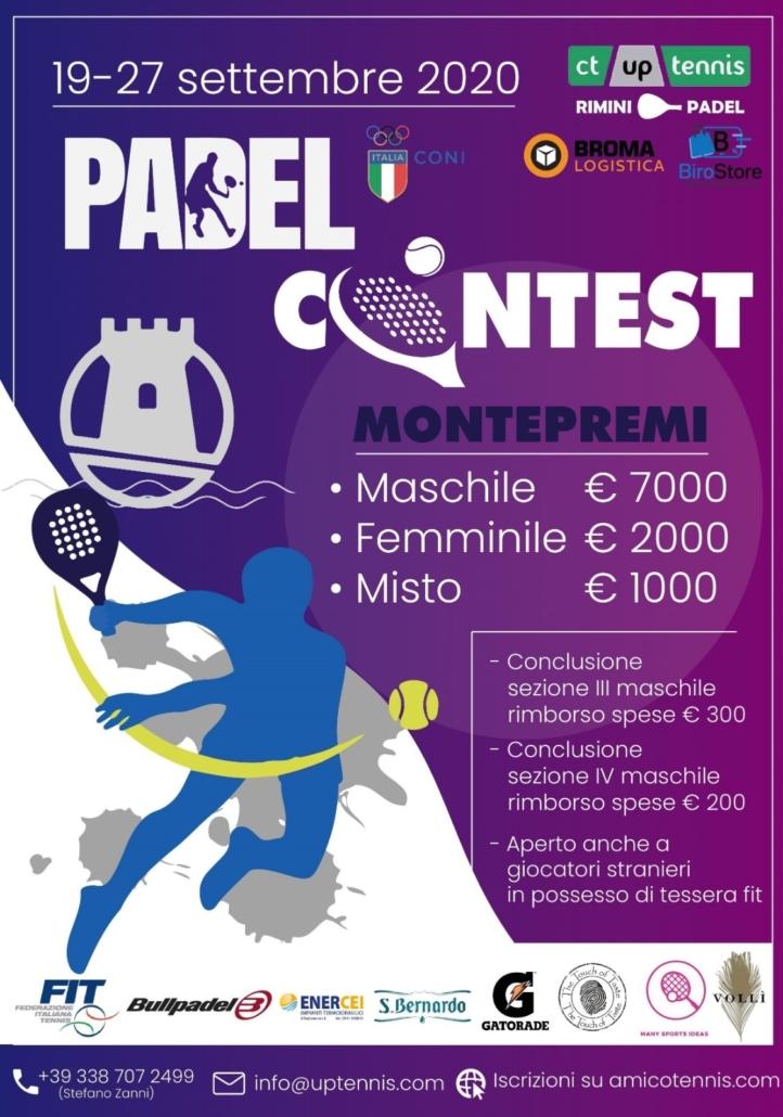 """Conto alla rovescia all'Up Tennis di Torre Pedrera per il """"Padel Contest"""" (10.000 euro di montepremi)"""