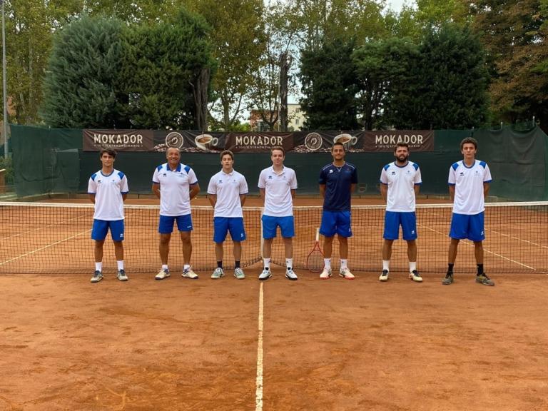 La squadra maschile di serie C del Tennis Club Faenza promossa nel 2020