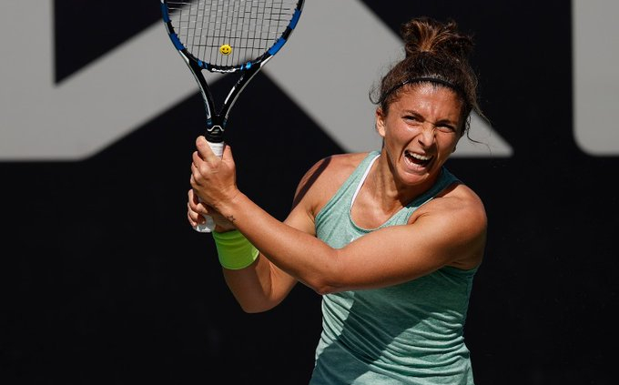 Sara Errani nelle qualificazioni degli Australian Open a Dubai